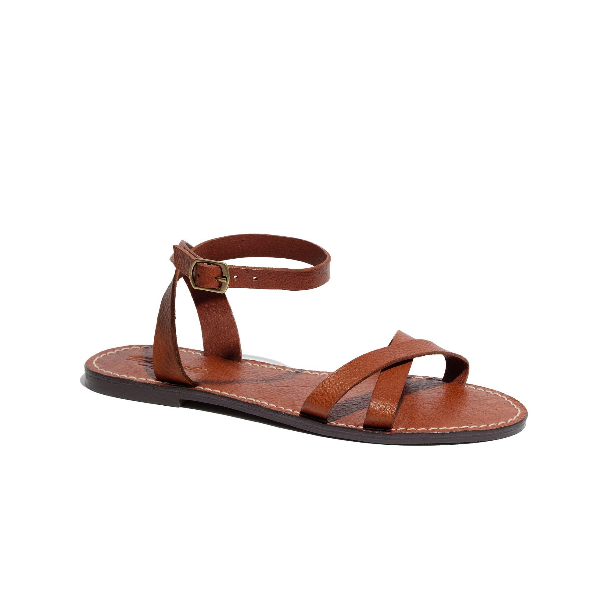 5a08a85711fc Lyst - Madewell The Crisscross Boardwalk Sandal in Brown