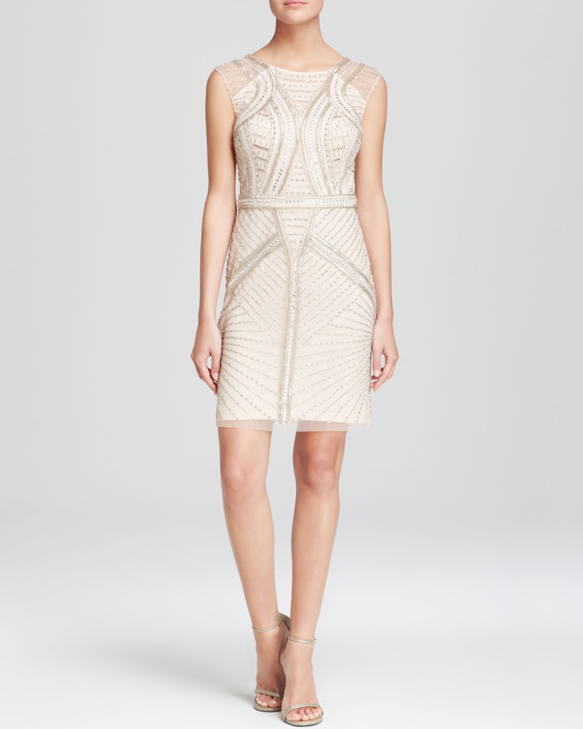 Aidan Mattox Sleeveless Beaded Dress – Dresses for Woman