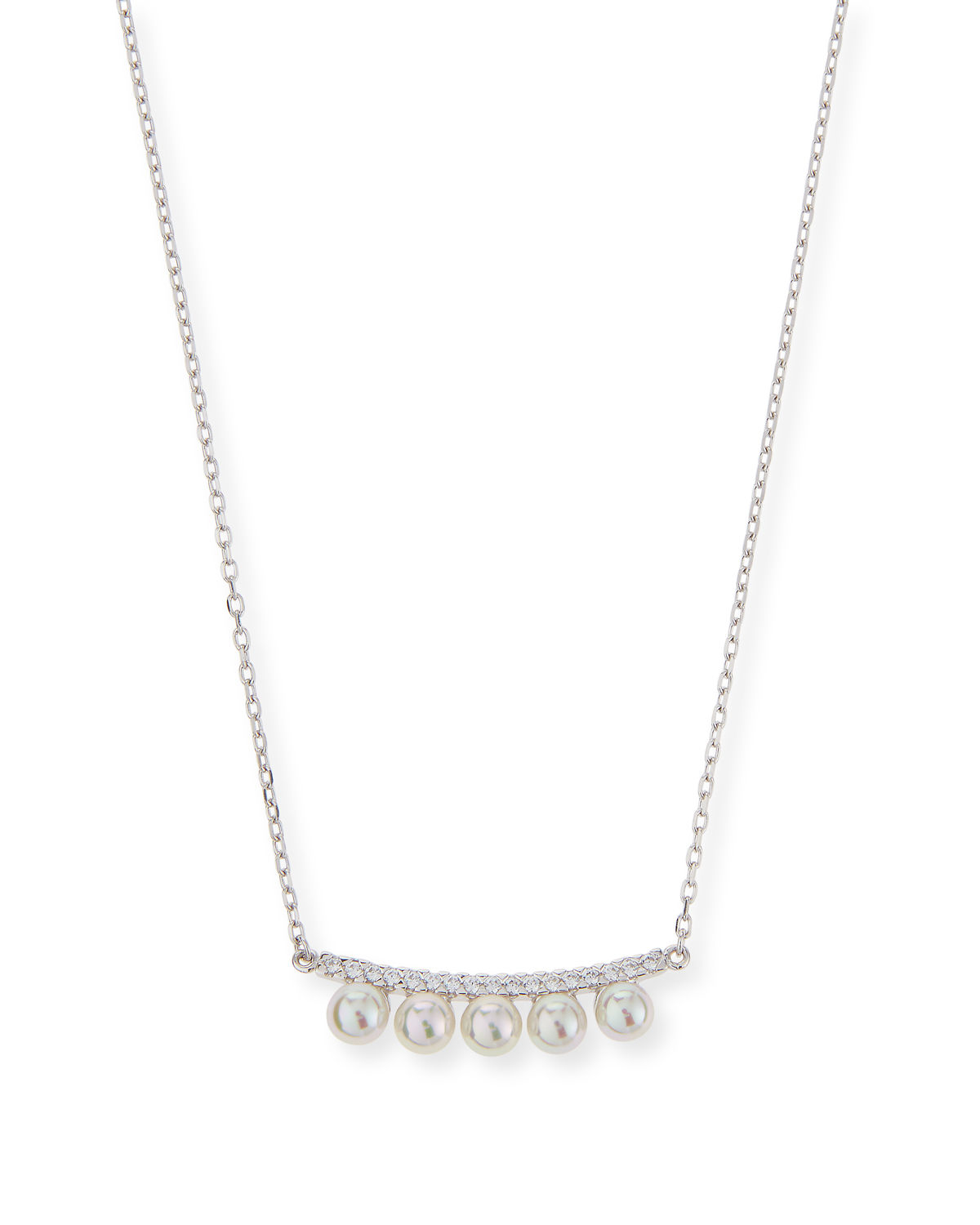 robert morris pav 233 nugget necklace necklaces majorica pearly pav 233 bar necklace in metallic lyst