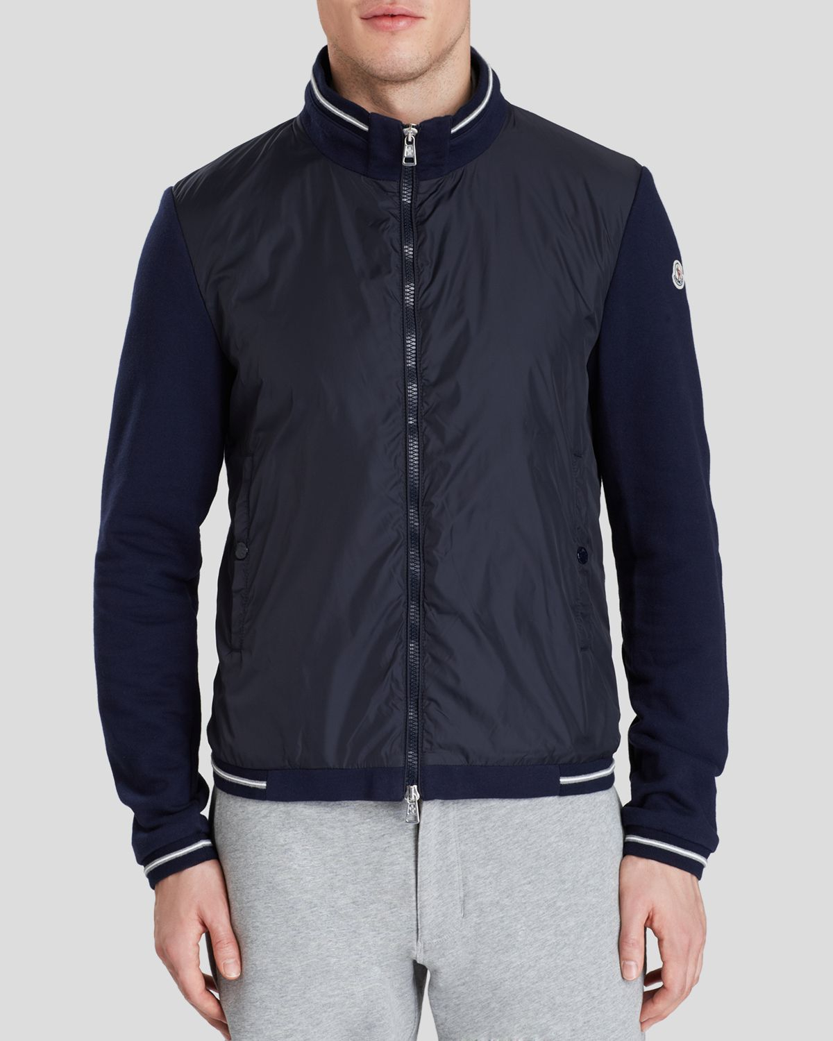 cc6fa88b73a9 Lyst - Moncler Maglia Cardigan in Blue for Men