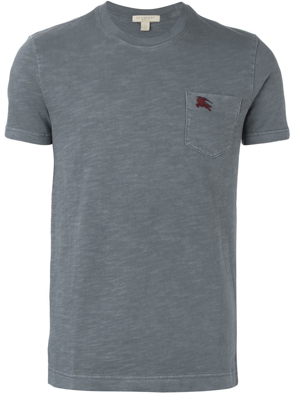 Burberry brit pocket logo t shirt in gray for men grey for Pocket logo t shirt