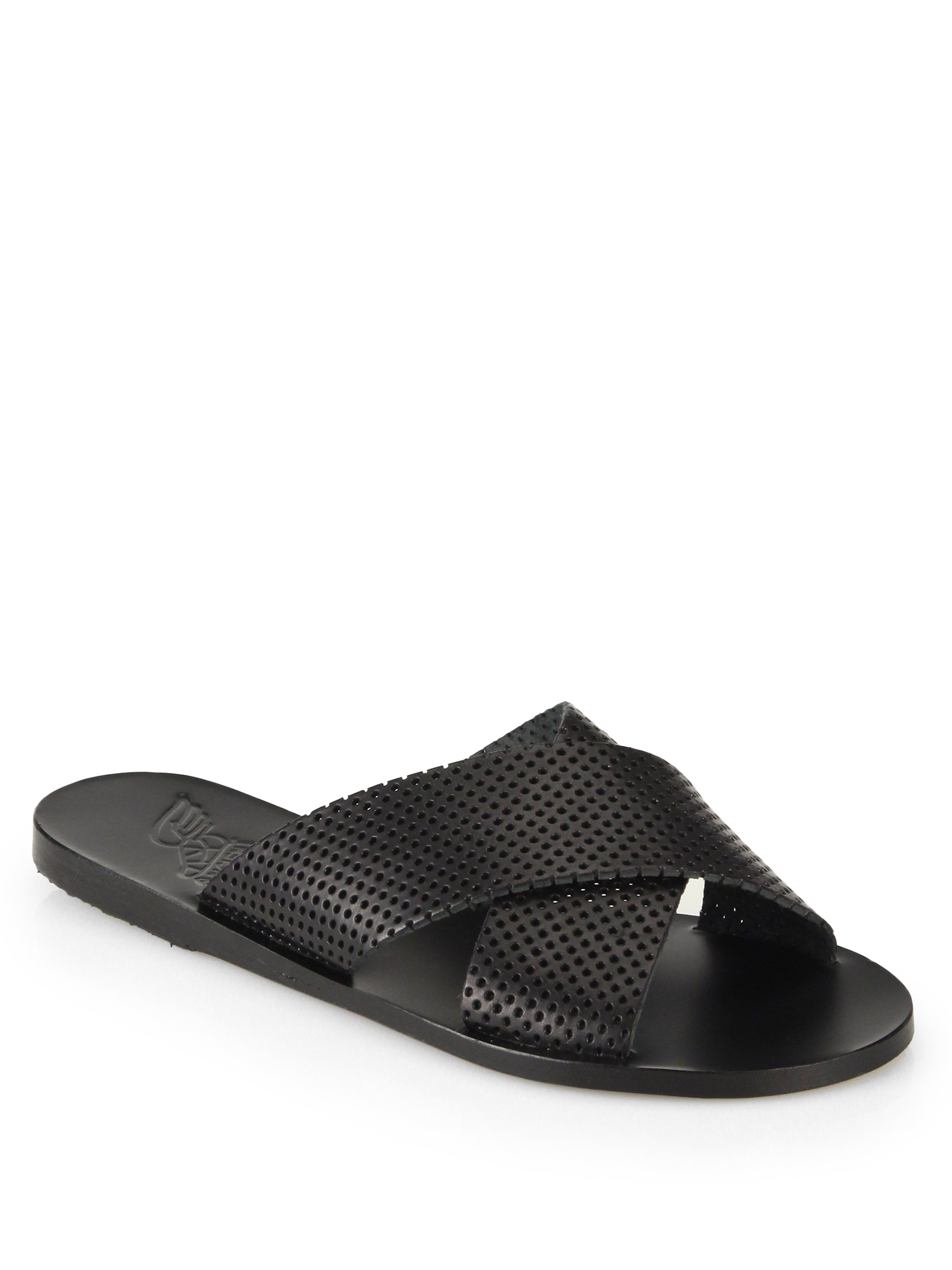 Lyst Ancient Greek Sandals Thais Perforated Leather
