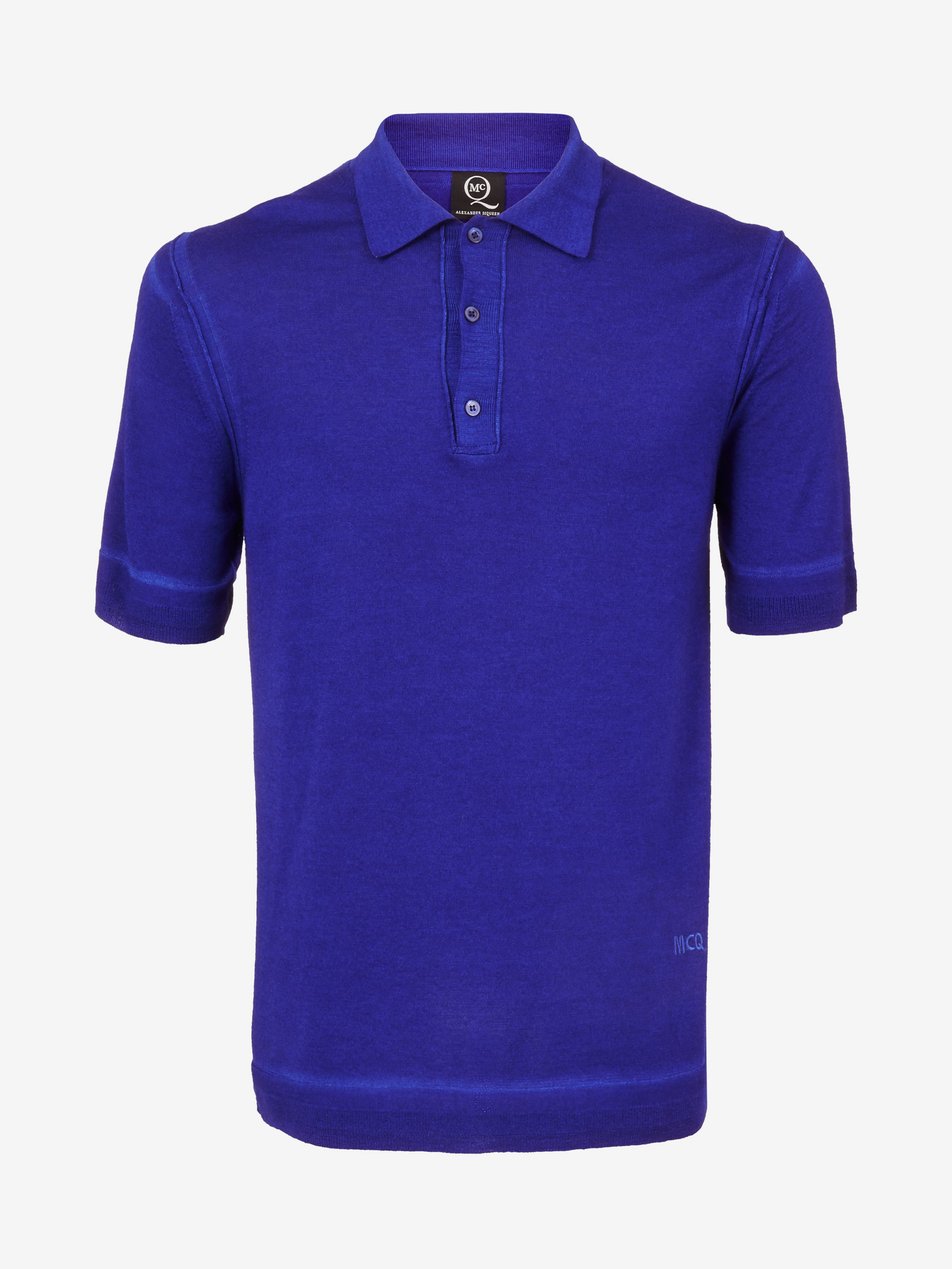 Lyst mcq maltinto polo shirt in blue for men for Cobalt blue polo shirt