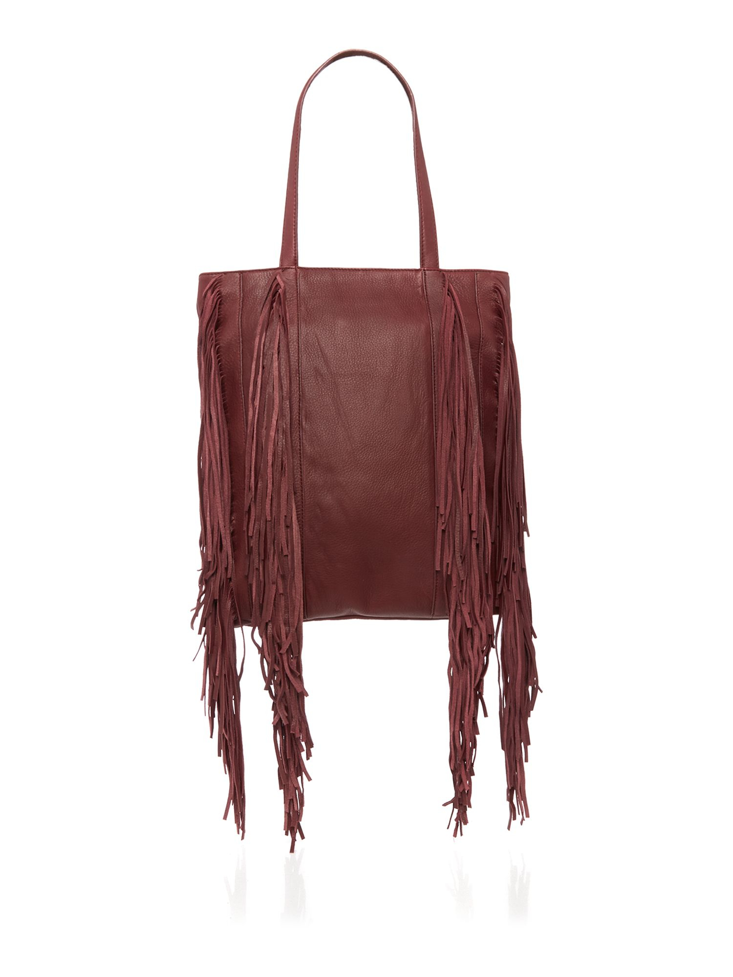 Kenneth Cole Leather Prince Street Burgundy Tote Bag in Purple