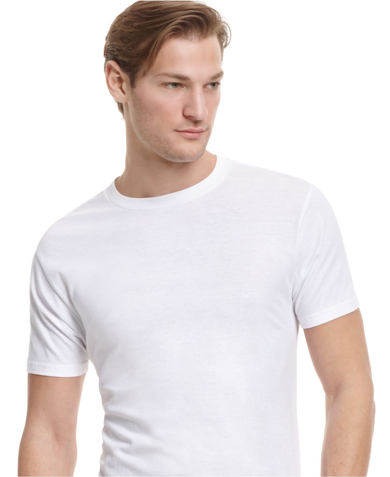alfani men 39 s crew neck t shirt in white for men lyst