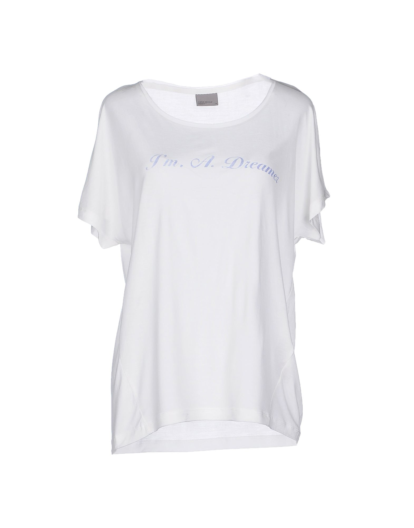 vero moda t shirt in white lyst. Black Bedroom Furniture Sets. Home Design Ideas
