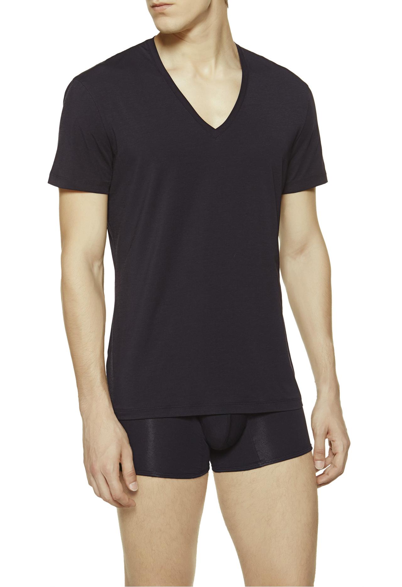 Lyst La Perla V Neck T Shirt In Black For Men