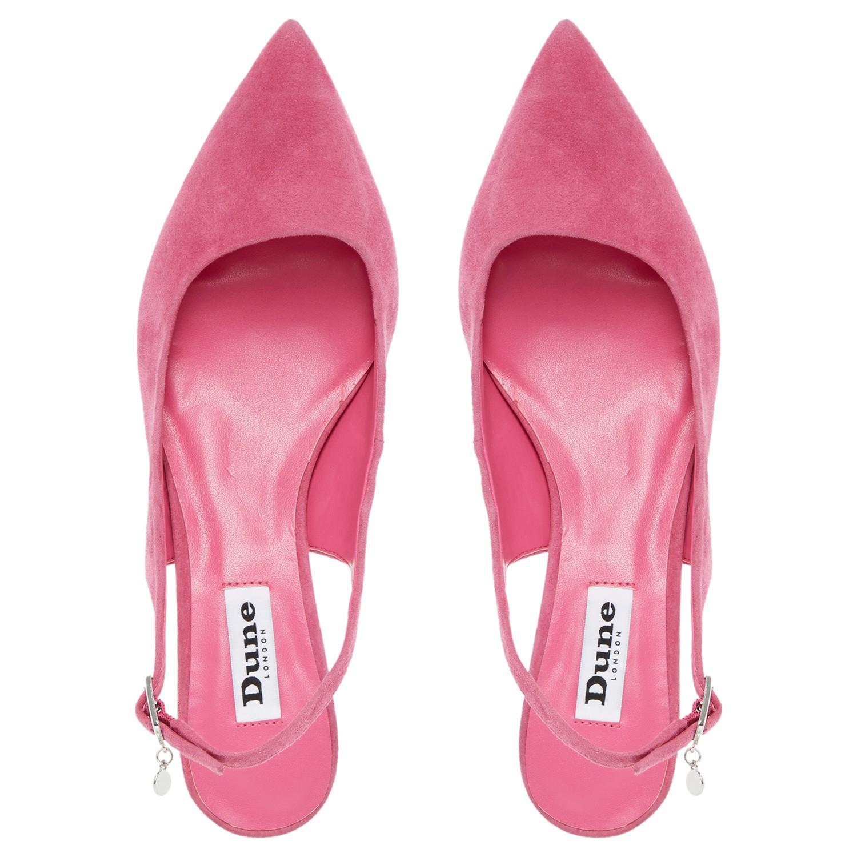 Dune Cathryn Slingback Kitten Heel Court Shoes in Pink - Lyst