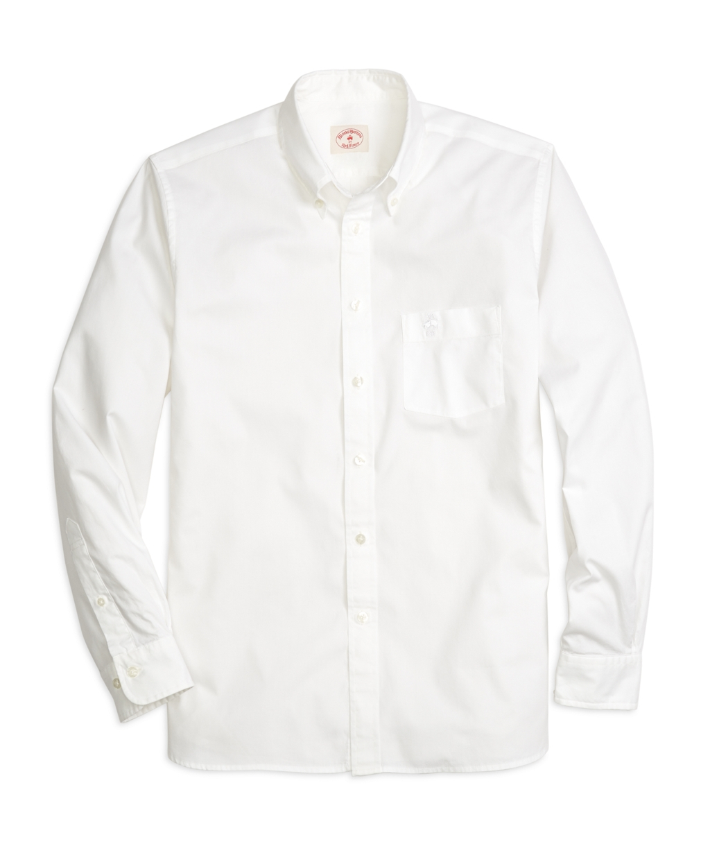 brooks brothers oxford sport shirt in white for men lyst