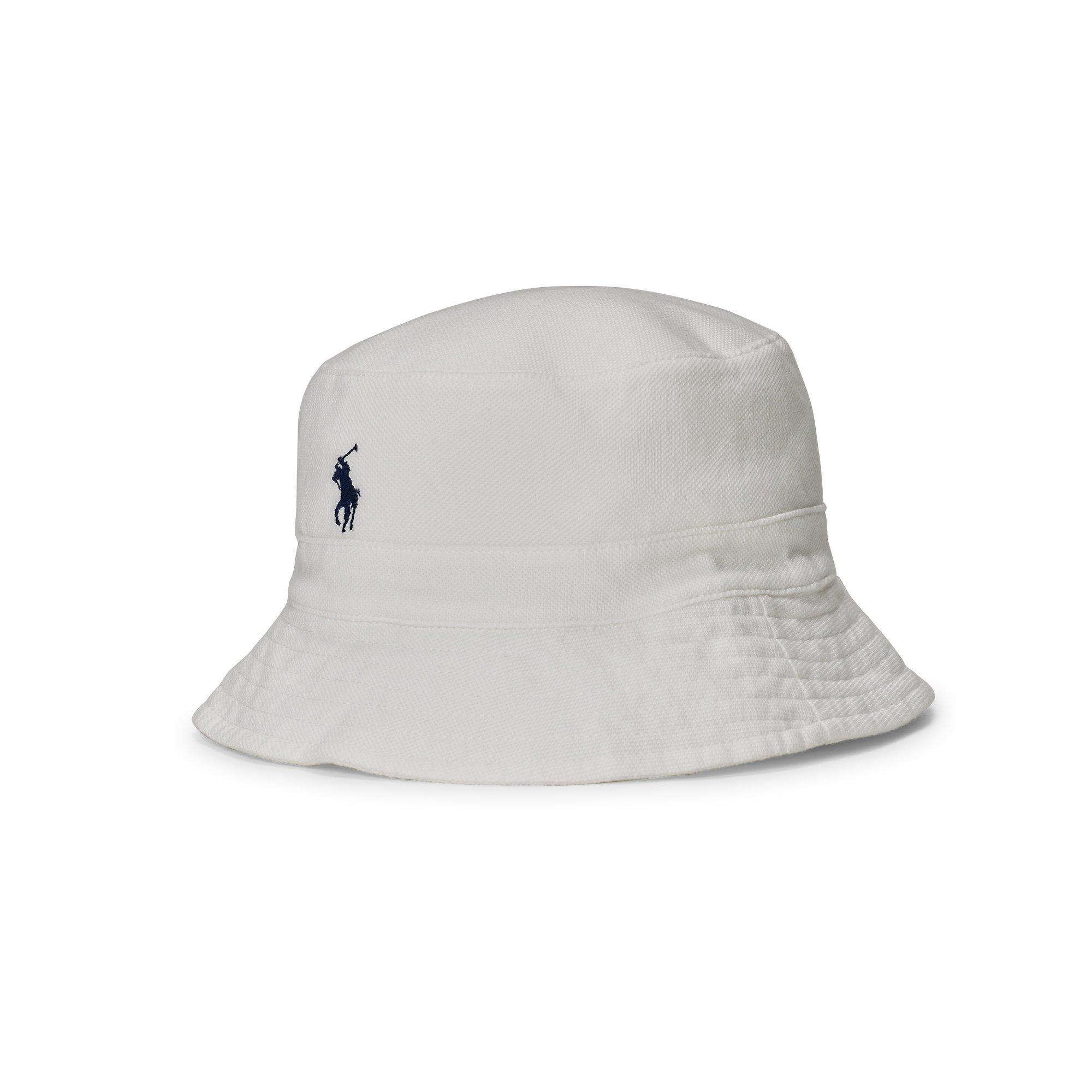 b200aa4fdc826 Polo Ralph Lauren Cotton Mesh Bucket Hat in White for Men - Lyst