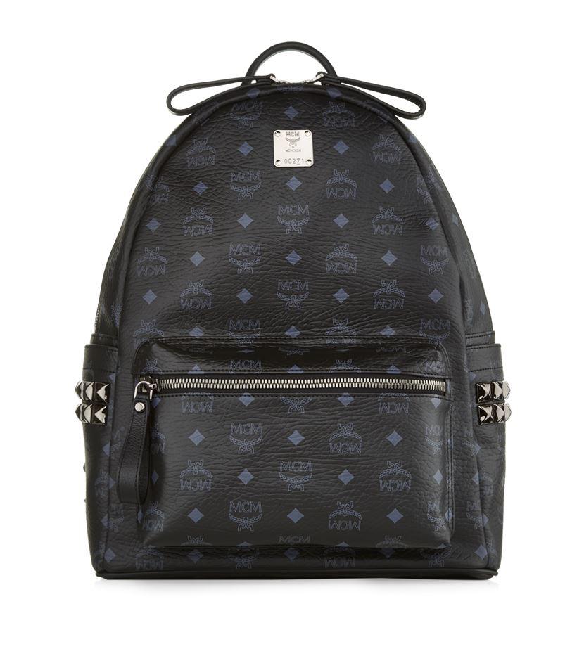 mcm medium stark backpack in black lyst. Black Bedroom Furniture Sets. Home Design Ideas