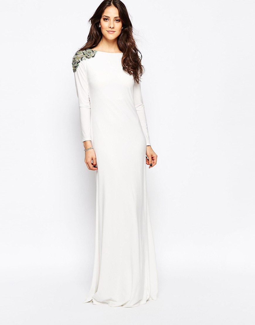 lyst - forever unique calista long sleeve maxi dress with