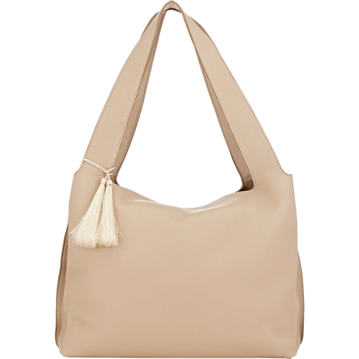 45ebfb1f7a The Row Duplex Leather Shoulder Bag in Natural - Lyst