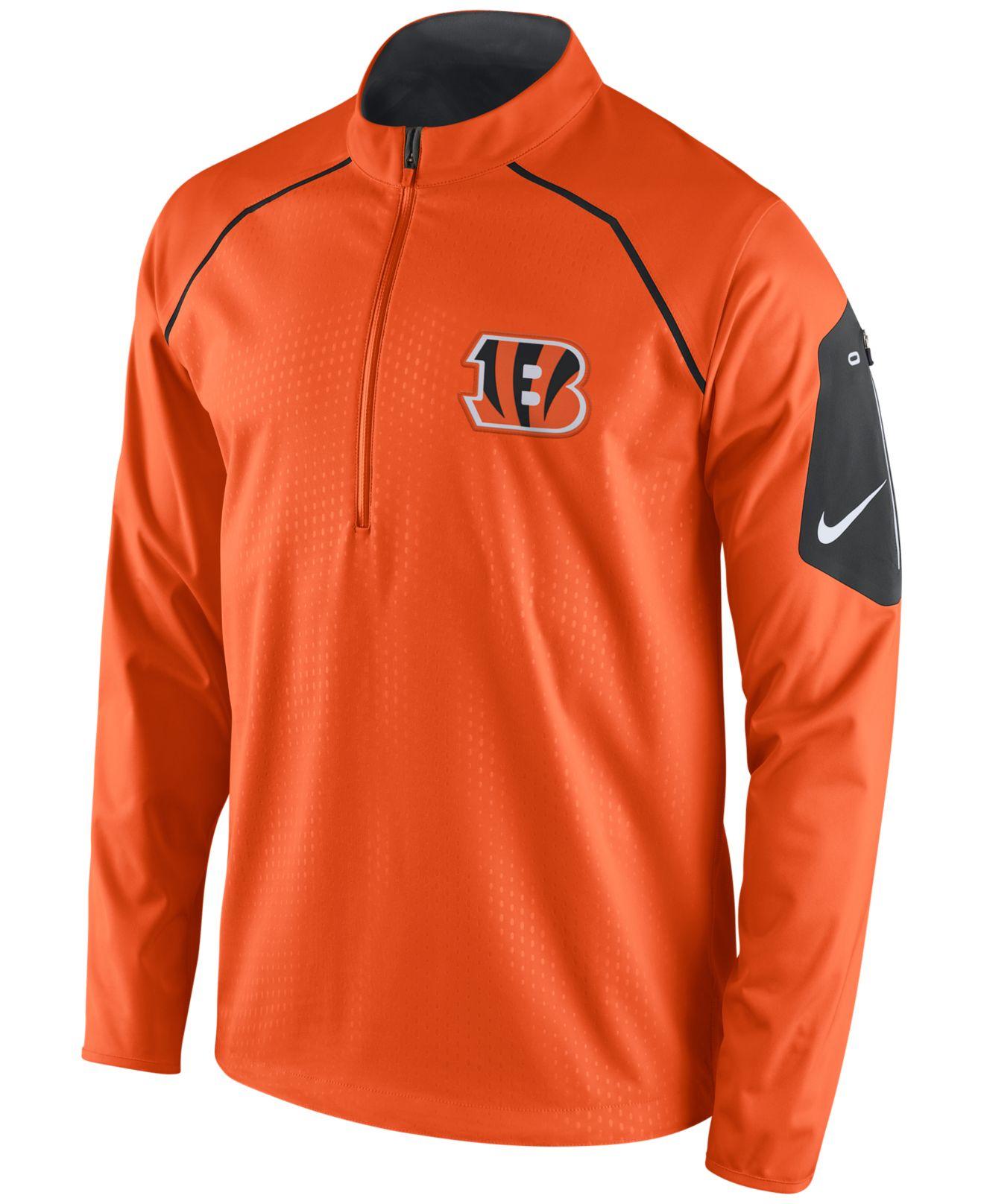 da05b7a3c Lyst - Nike Men s Cincinnati Bengals Alpha Fly Rush Quarter-zip ...