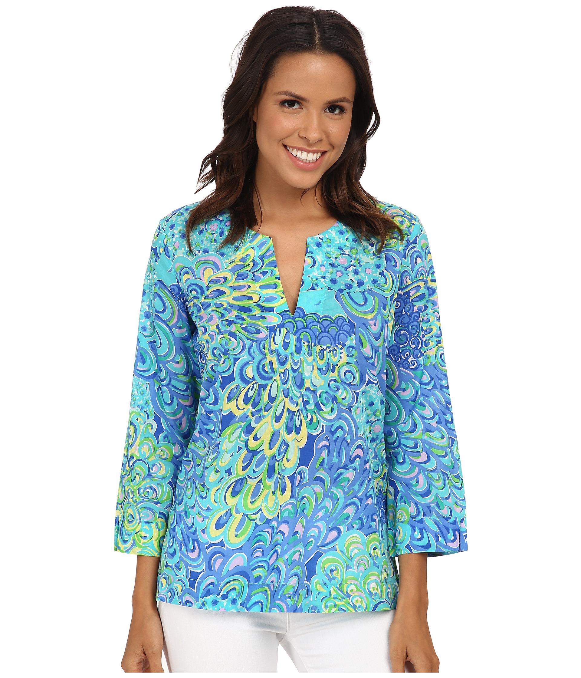 a249733b42f040 Lilly Pulitzer Amelia Island Tunic in Blue - Lyst