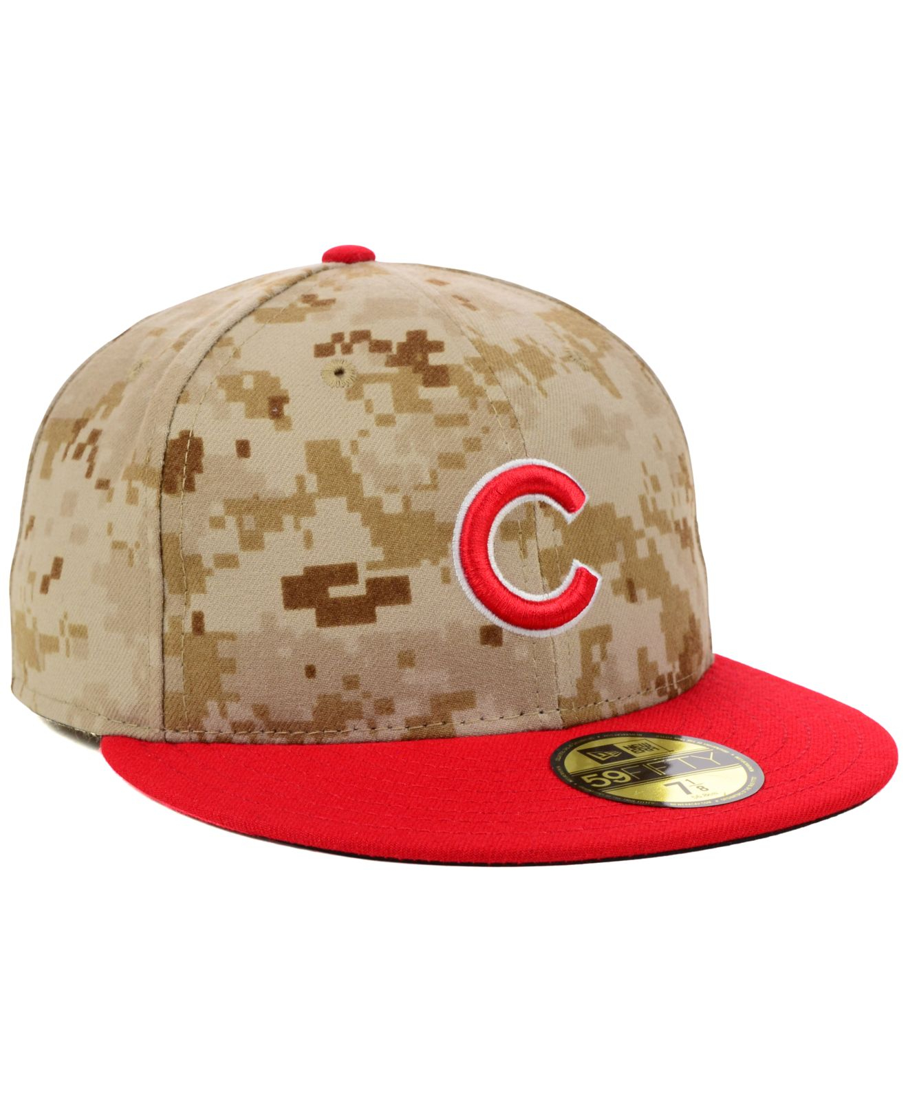 a93d87dbb21 ... new style lyst ktz chicago cubs 2014 stars and stripes 59fifty cap in  red 5880b b7a13