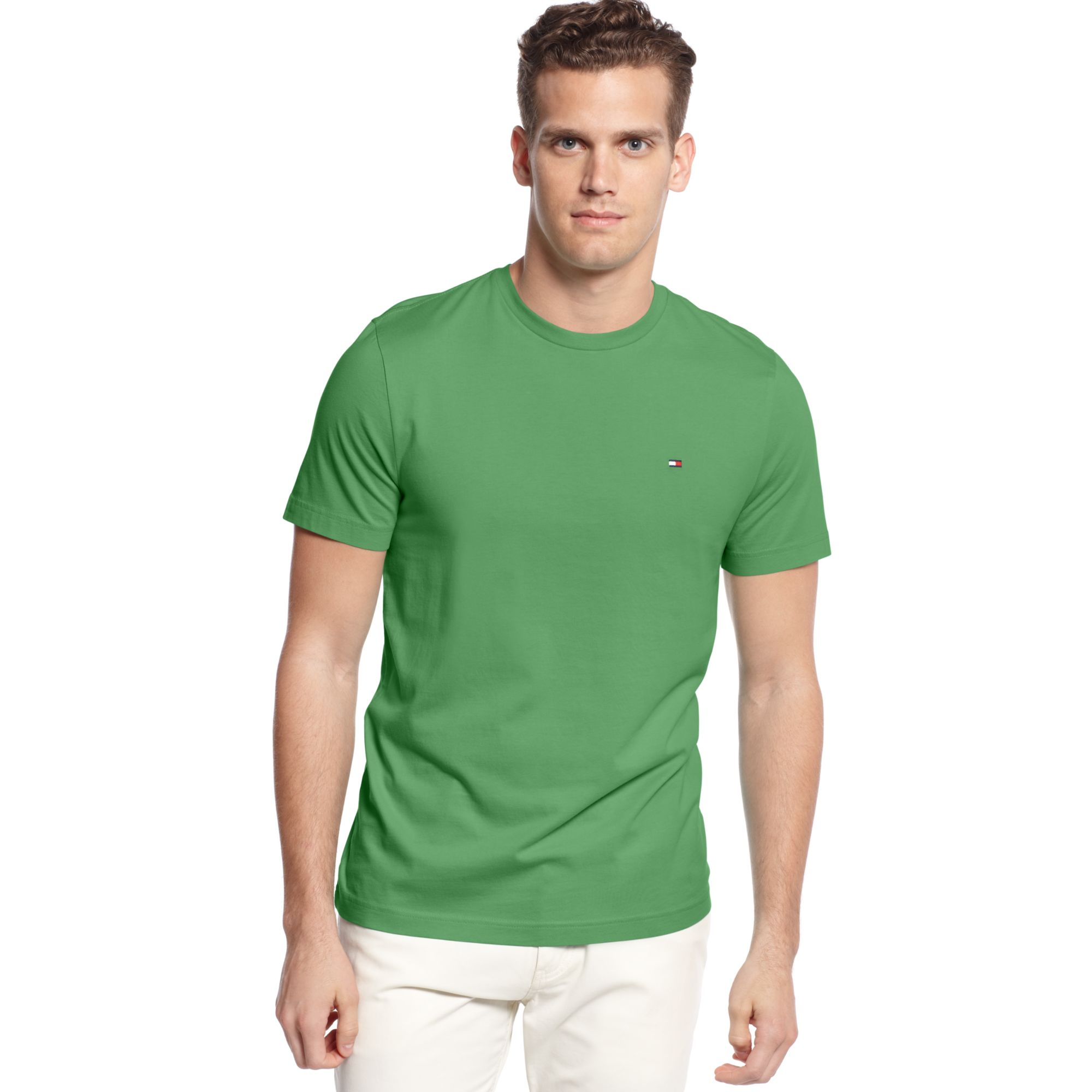 lyst tommy hilfiger beach crewneck tshirt in green for men. Black Bedroom Furniture Sets. Home Design Ideas