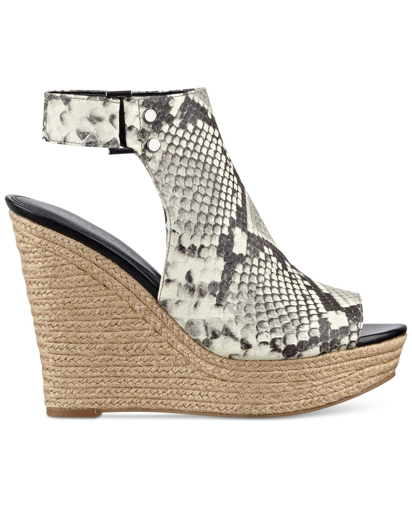 Marc Fisher Hybrid Wedge Sandals In White Lyst