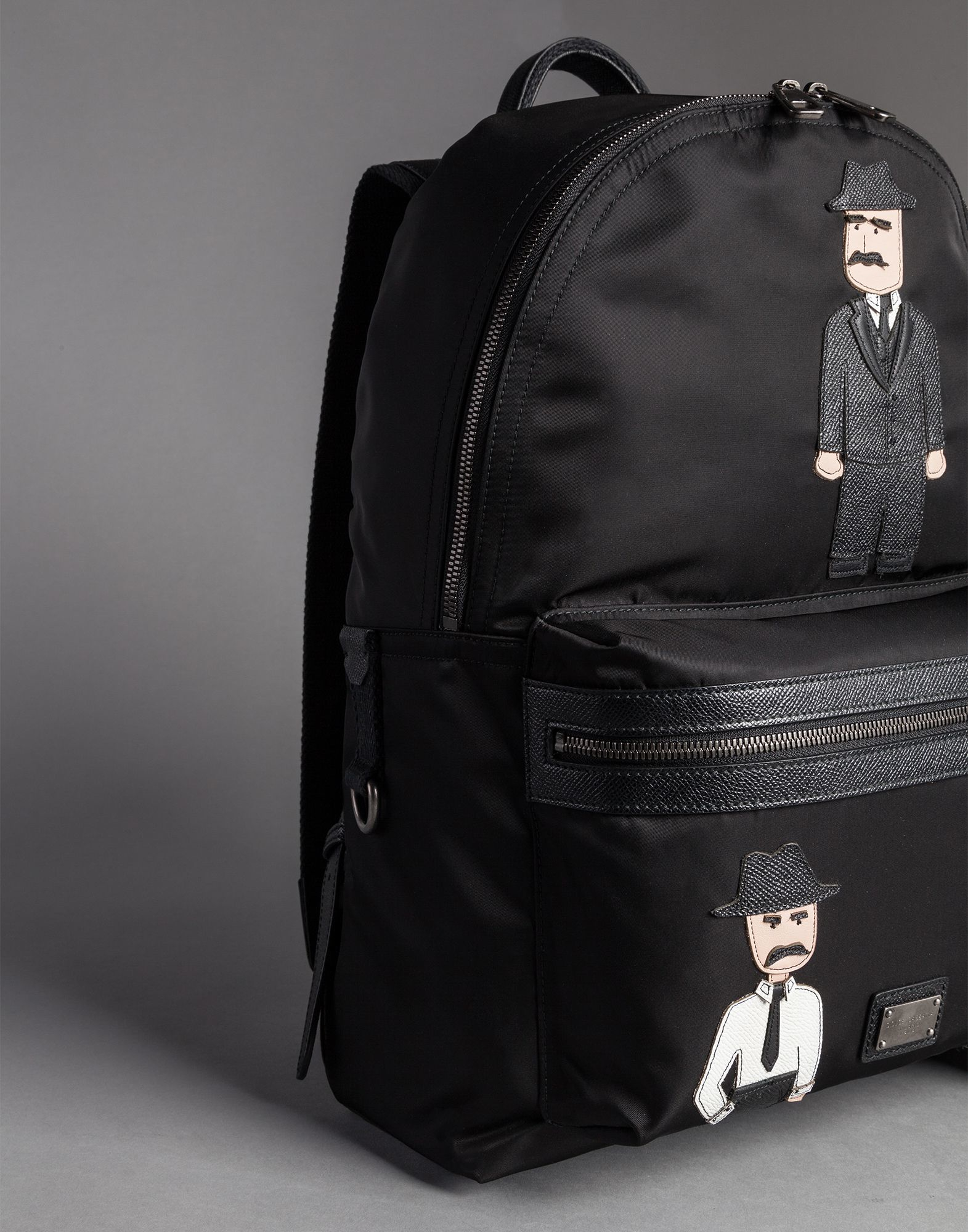 4d78d4d9f71 Dolce & Gabbana Vulcano Nylon Backpack With Sicilian Men Patches in ...