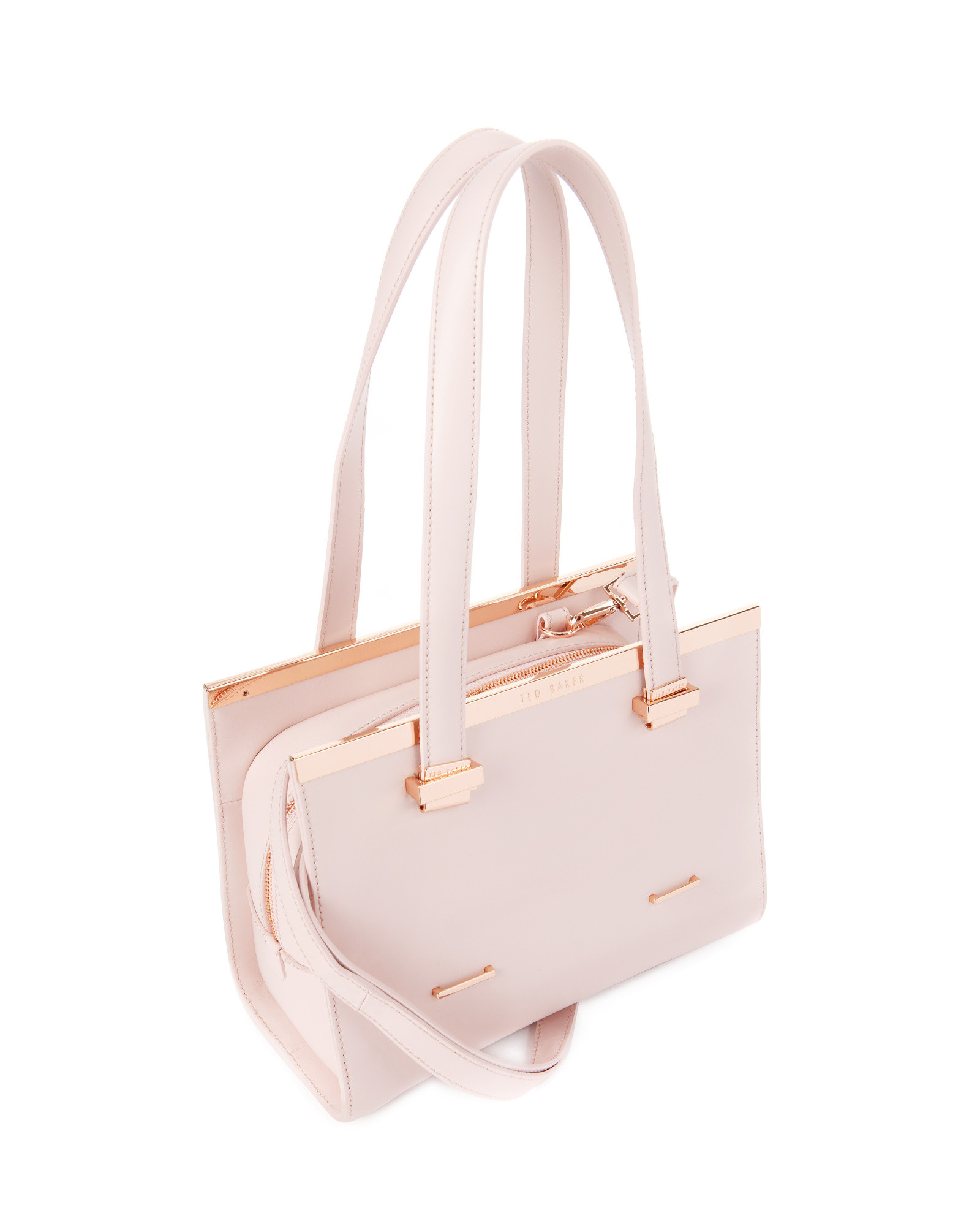 4b2afd84ba6bbc Ted Baker Leather Metal Bar Tote Bag in Pink - Lyst