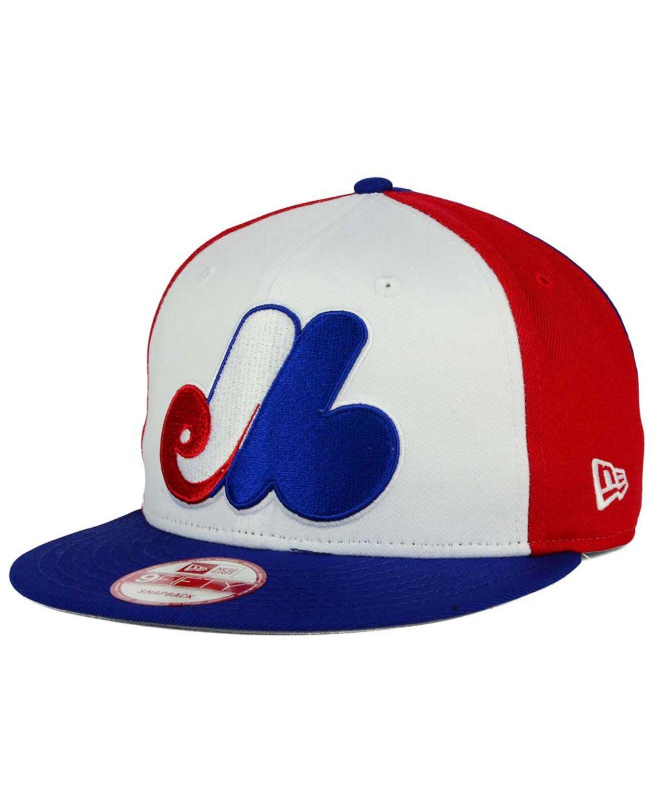 04da46b9def Lyst - Ktz Montreal Expos Biggie 9fifty Snapback Cap in White for Men