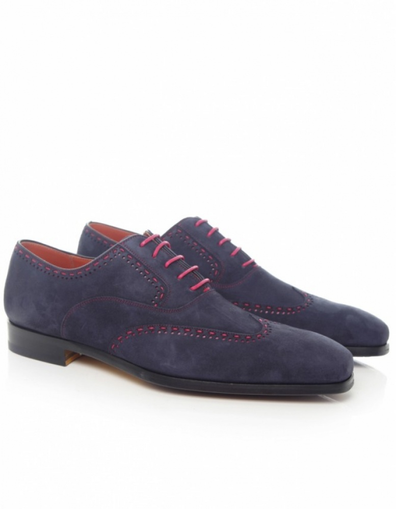 Saks Fifth Avenue Suede Oxford Shoes In Blue For Men | Lyst