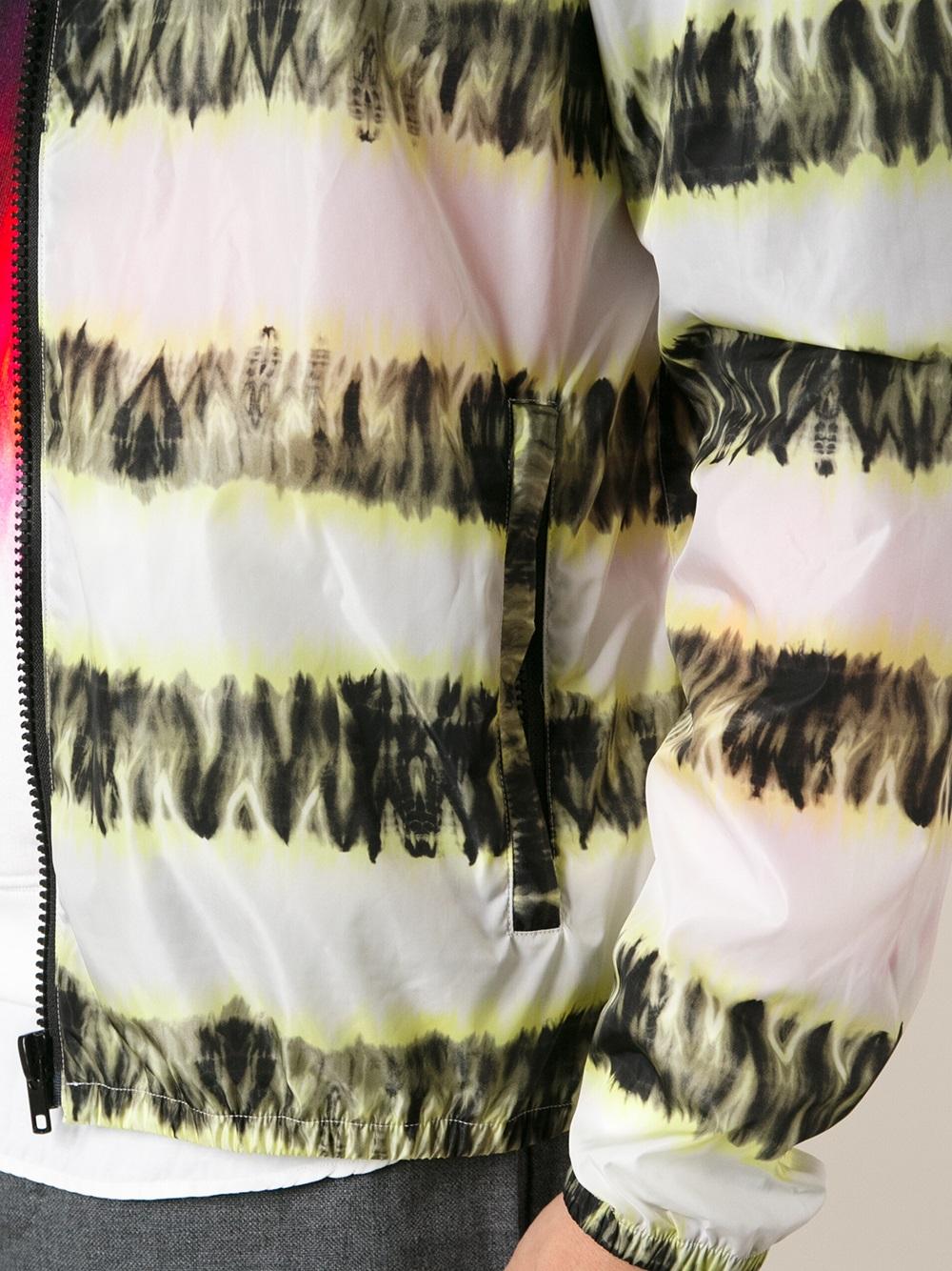 MSGM Striped Jacket in White for Men