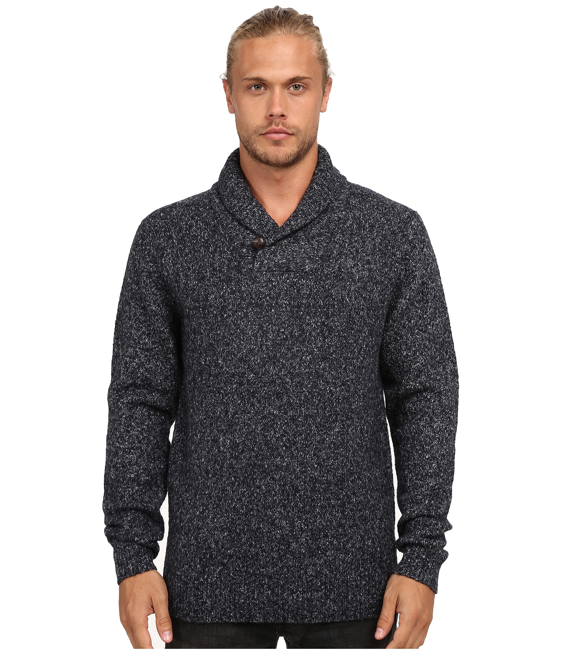 French connection Felted Fleck Cowl Neck Knits in Blue for Men | Lyst