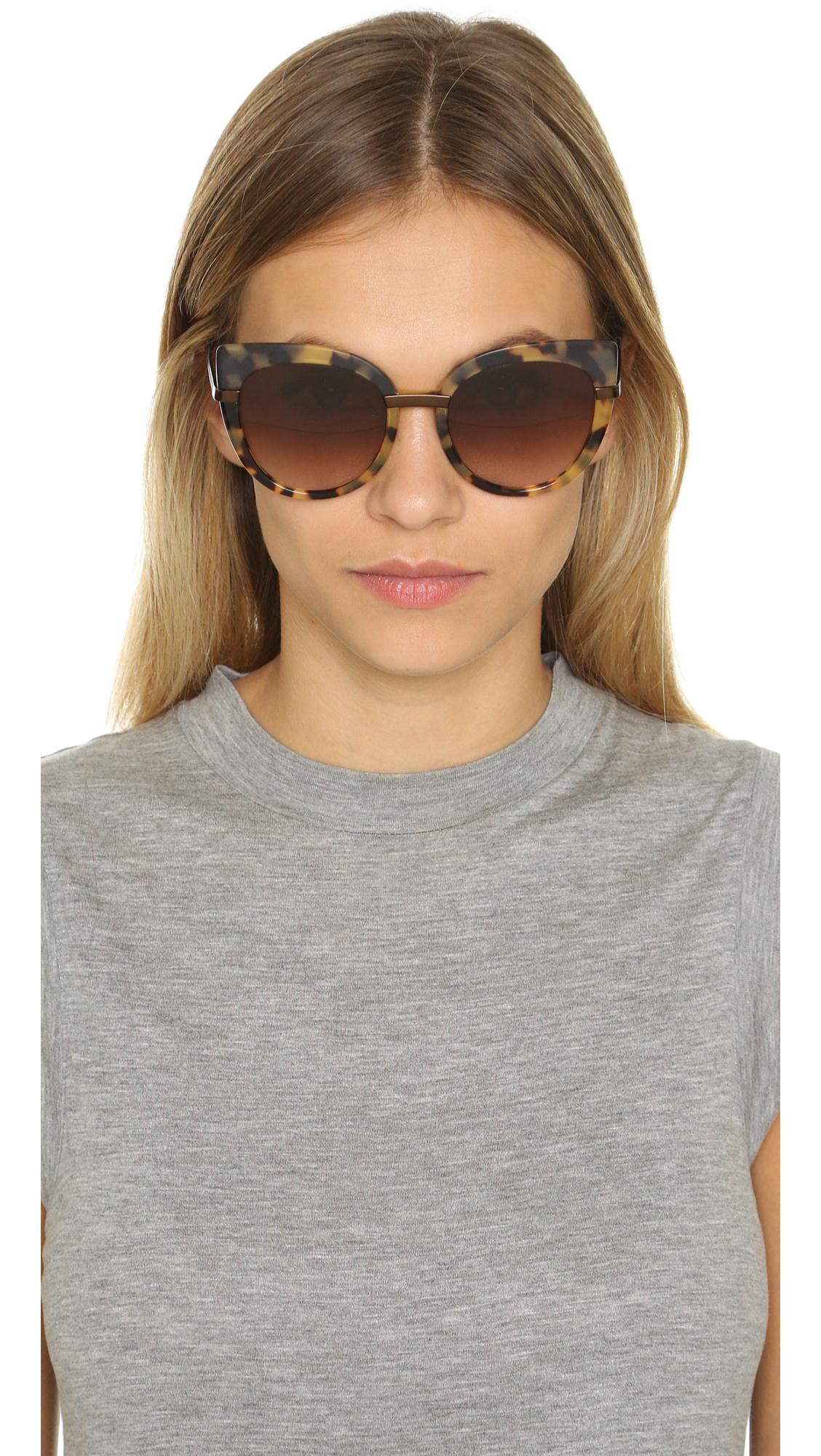 307425ccbd7 Lyst - Marc By Marc Jacobs Cat Eye Sunglasses - Black brown Grey in ...