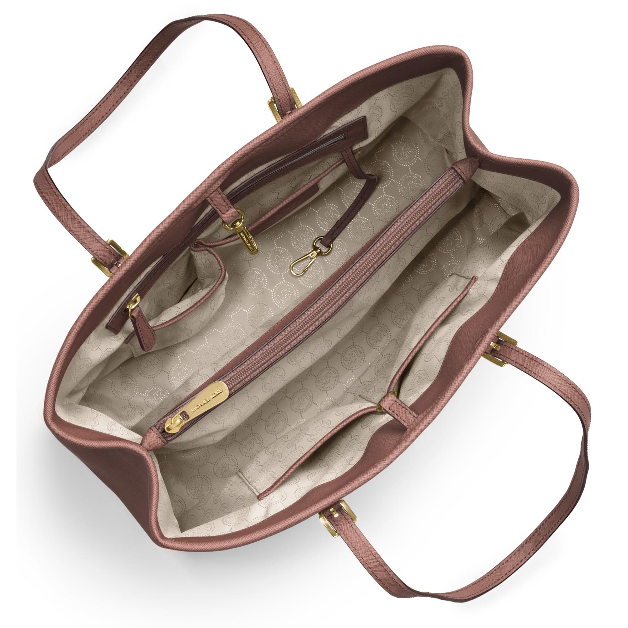 MICHAEL Michael Kors Jet Set East west Large Leather Tote Bag in ... 4fe63696d811d
