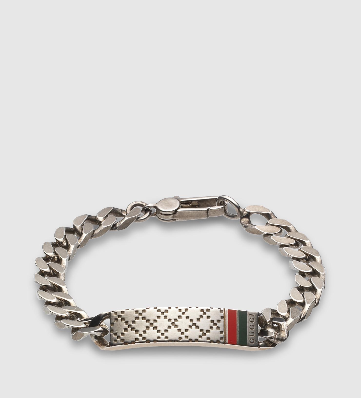 61f953afb Gucci Diamante Motif Id Bracelet in Metallic for Men - Lyst