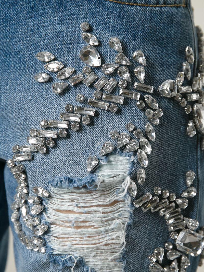 quality design b3f66 6b2f5 Marco Bologna Blue Crystal Embellished Jeans