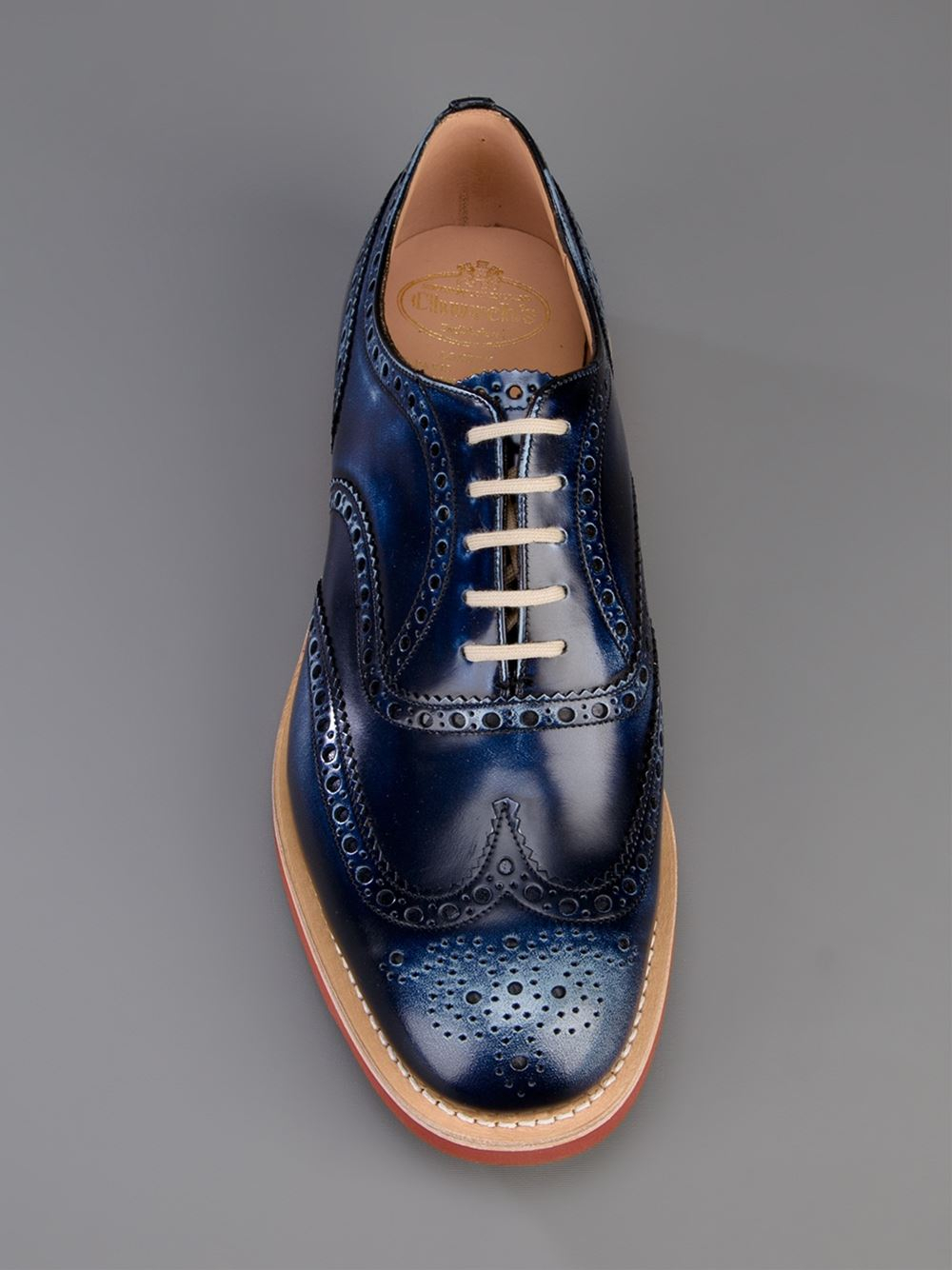 church s downish brogues in purple for blue lyst