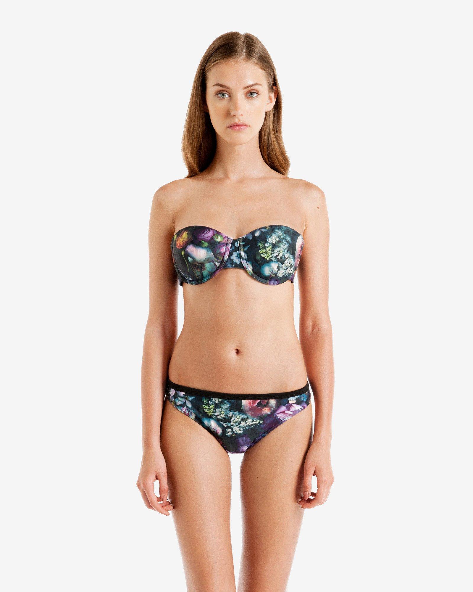 6179ebb7b963b9 Lyst - Ted Baker Shadow Floral Bikini Top