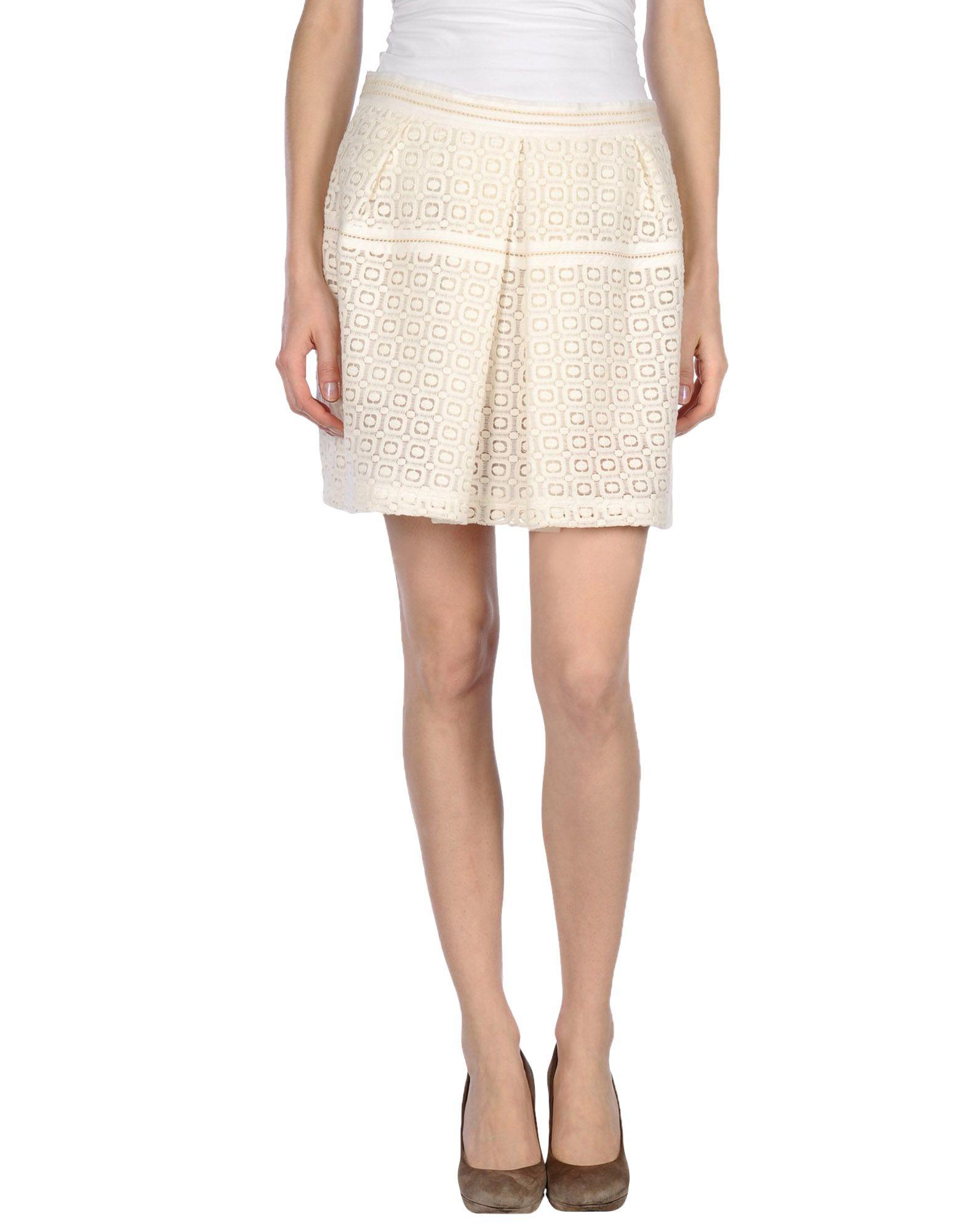 paul joe mini skirt in white lyst