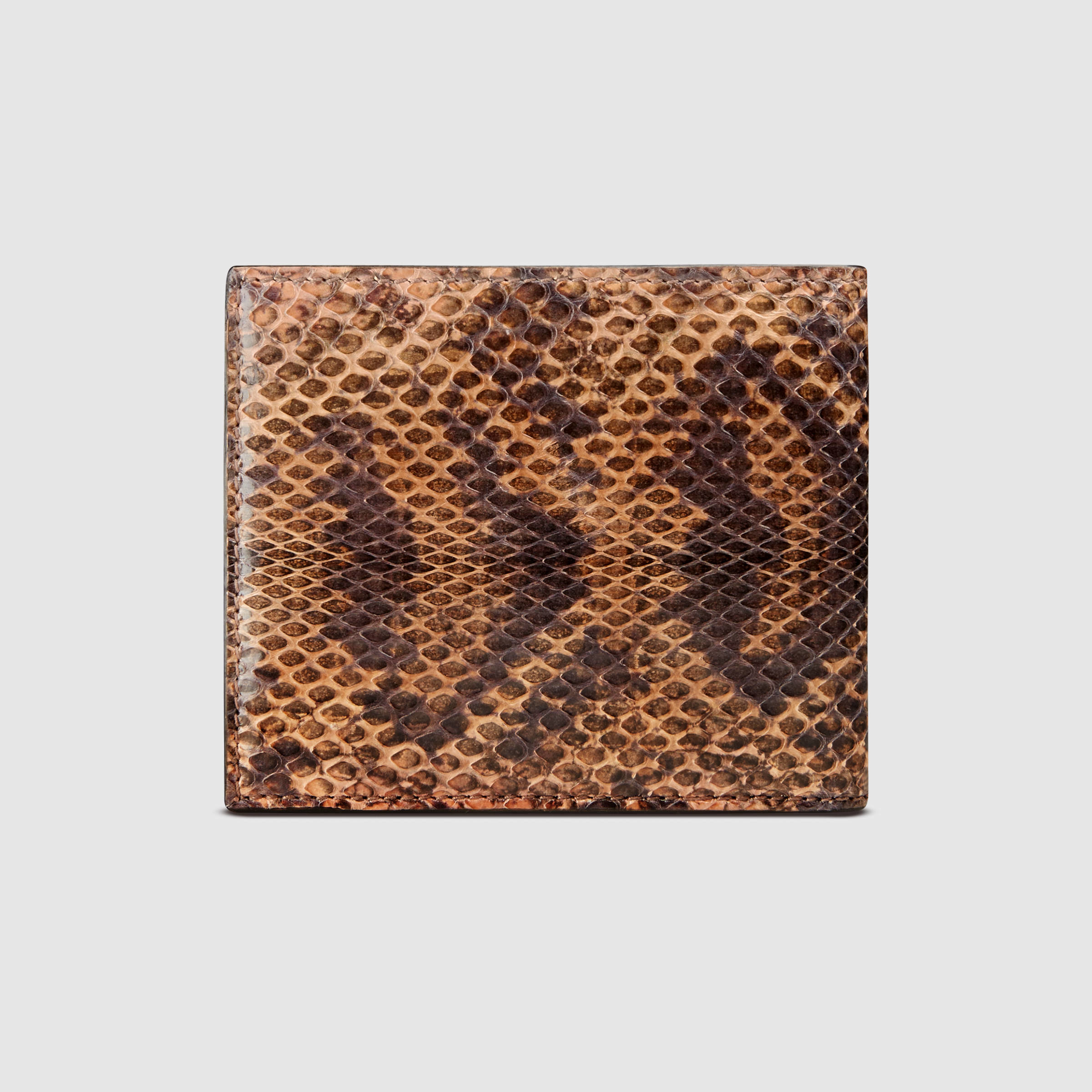80a08c3d8ecd Gucci Ayers Snakeskin Bi-fold Wallet for Men - Lyst