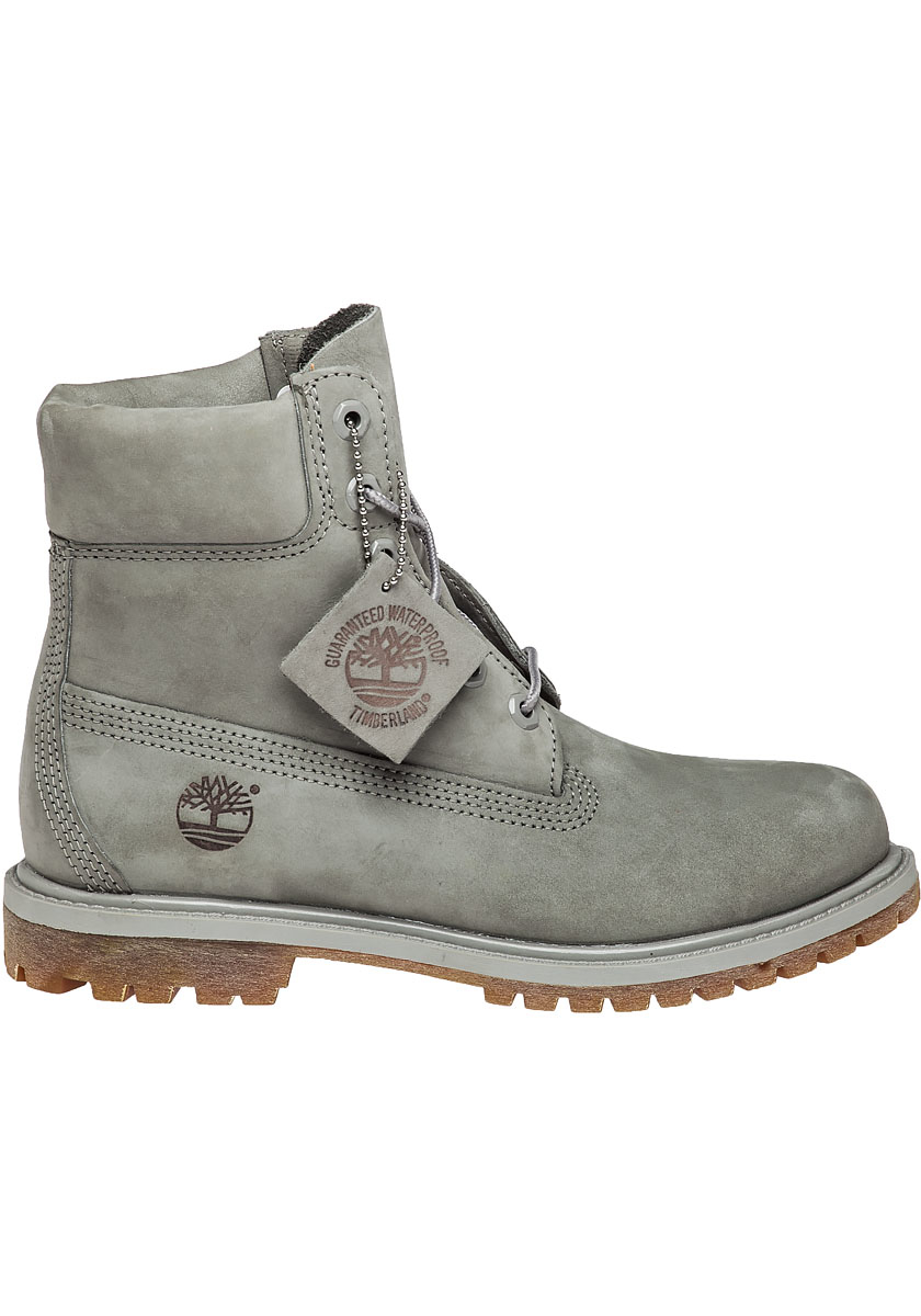 timberland premium 6 inch nubuck boots in gray lyst. Black Bedroom Furniture Sets. Home Design Ideas