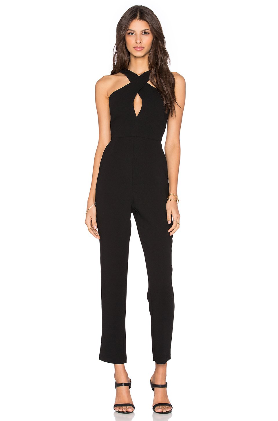 6498894dd0 Skinny Leg Black Jumpsuit - Noisey Clothing
