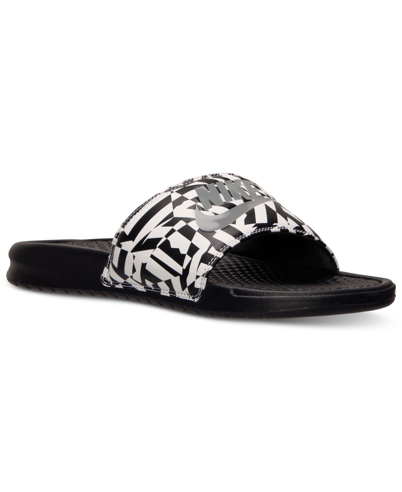 07eb27ec17ce Lyst - Nike Men S Benassi Jdi Print Slide Sandals From Finish Line ...