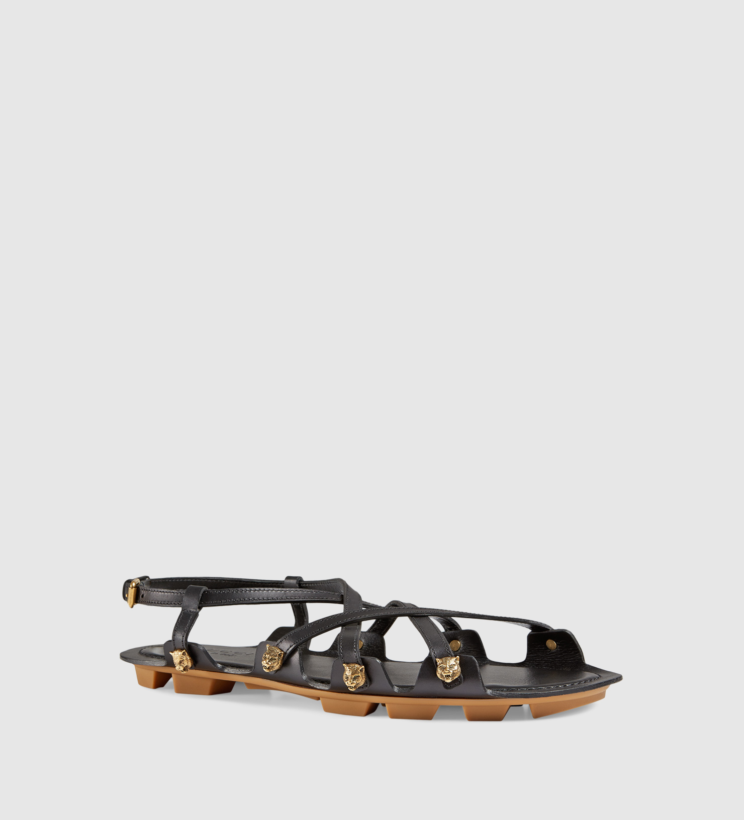 cd82853f156 Gucci Caballero Leather Lug Sole Sandal in Brown for Men - Lyst