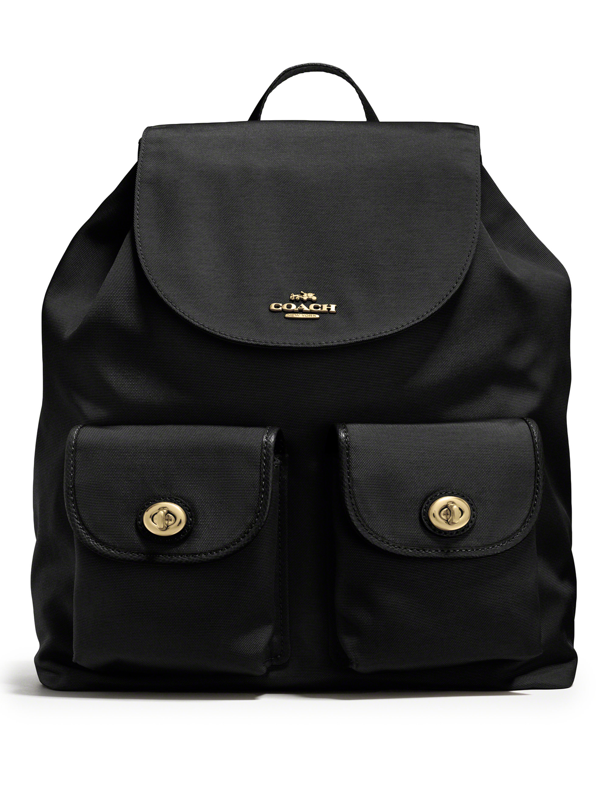 Coach Small Nylon Backpack in Black | Lyst