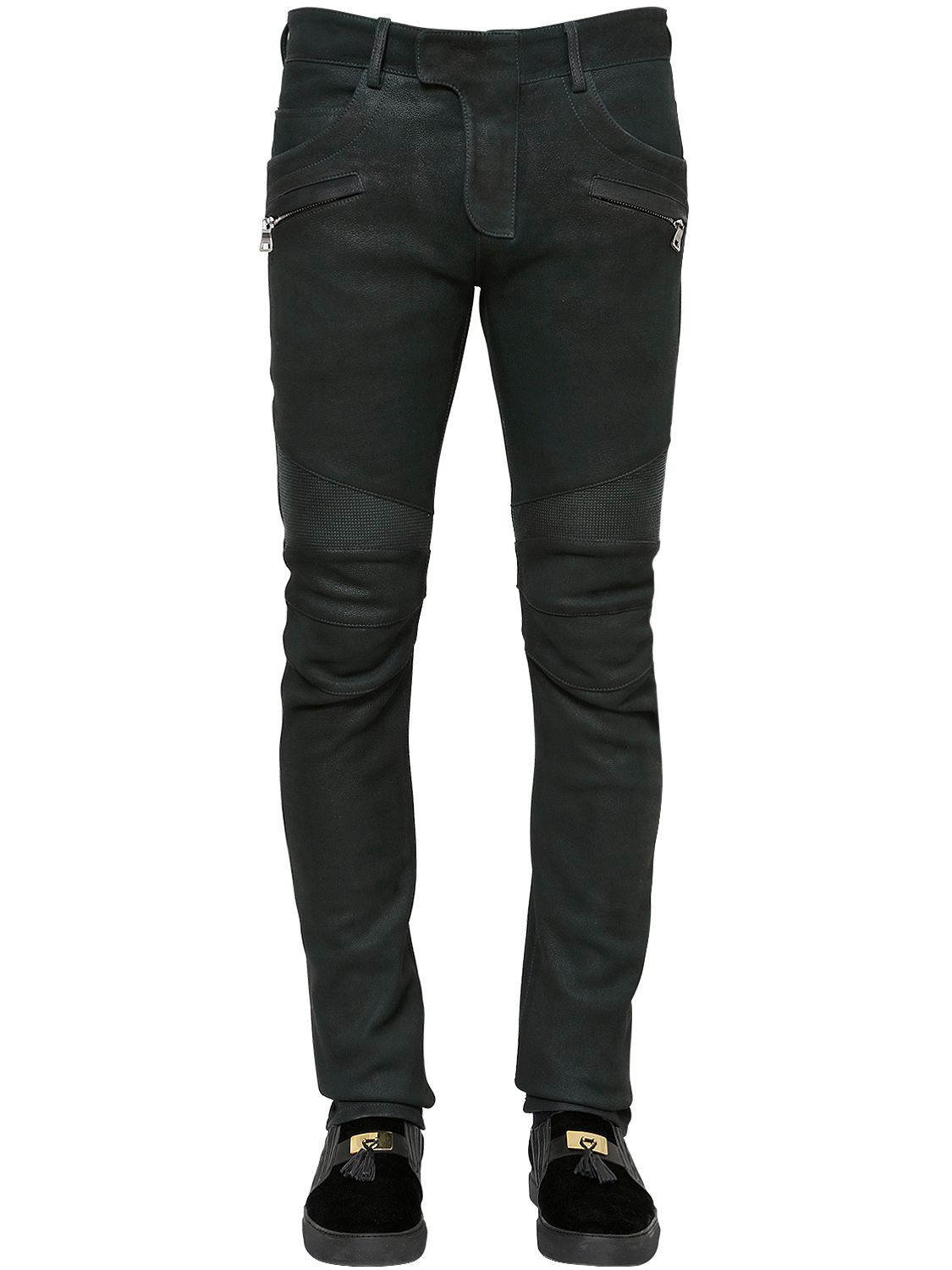 separation shoes coupon code pick up Coated Nappa Leather Biker Pants