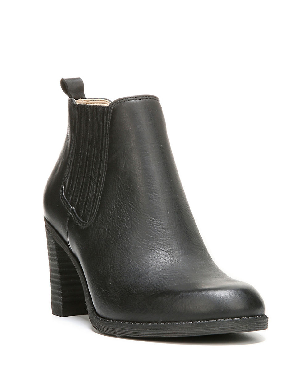 dr scholls leather ankle boots in black lyst