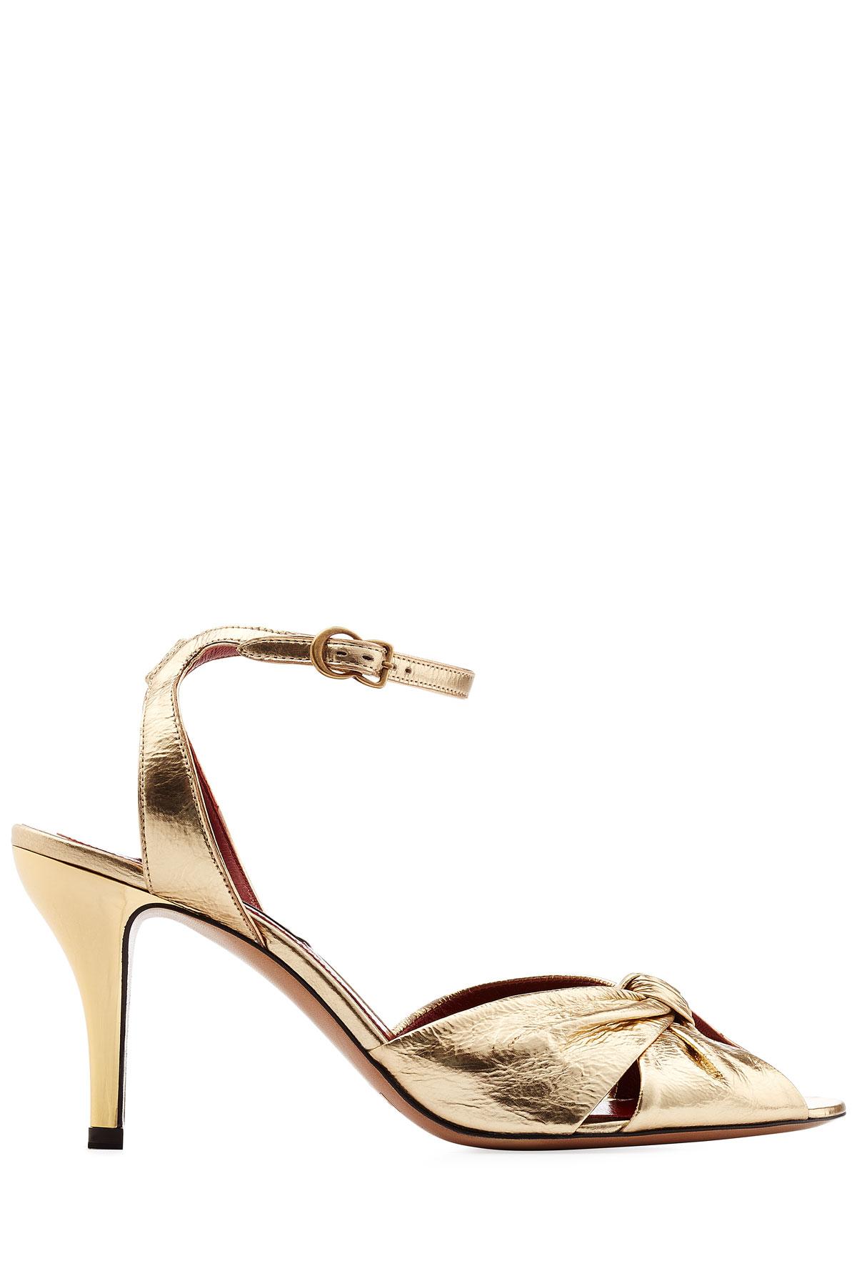 8da63cd2c6b Marc Jacobs Metallic Leather Sandals - Gold in Metallic - Lyst
