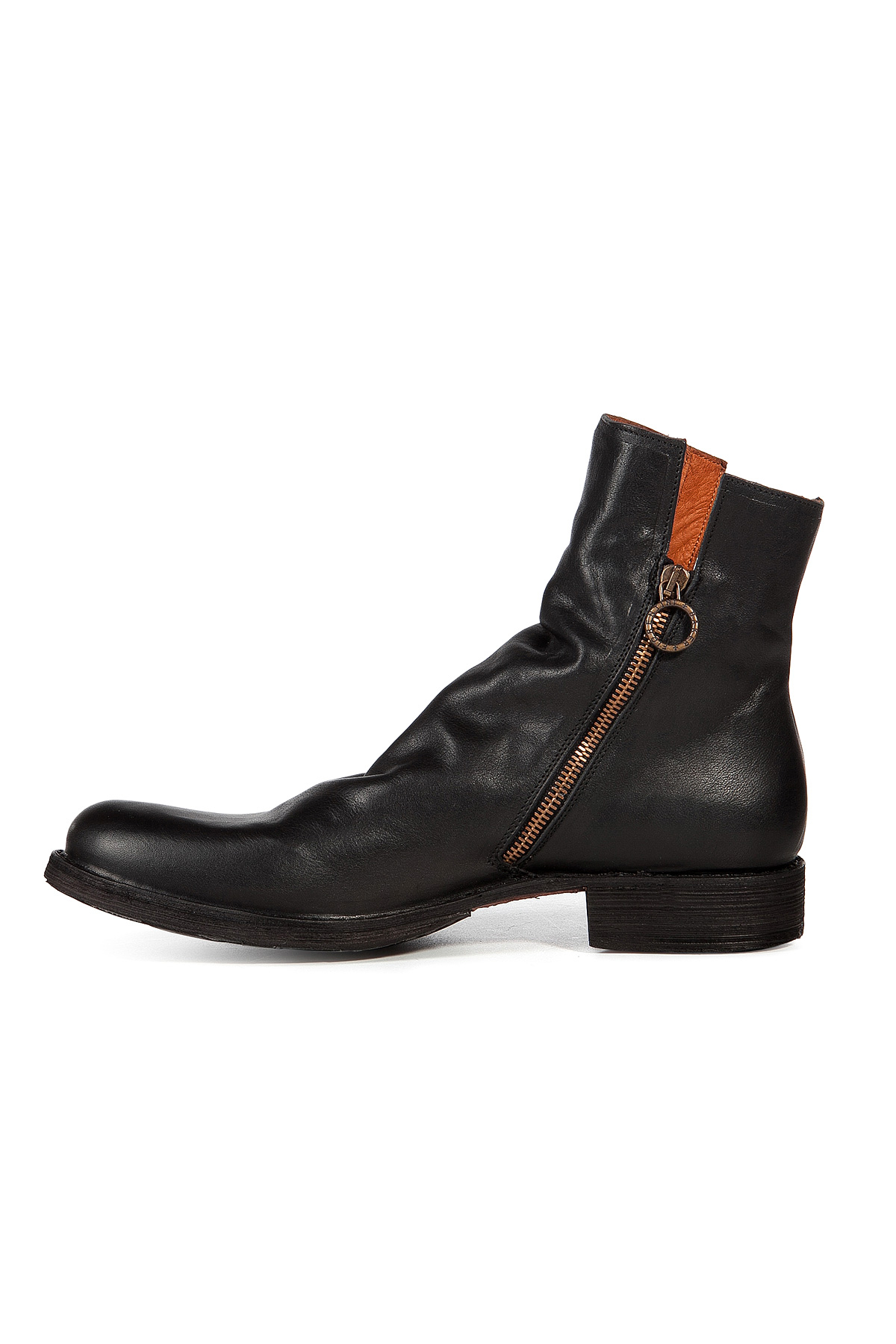 fiorentini baker leather boots in black for lyst