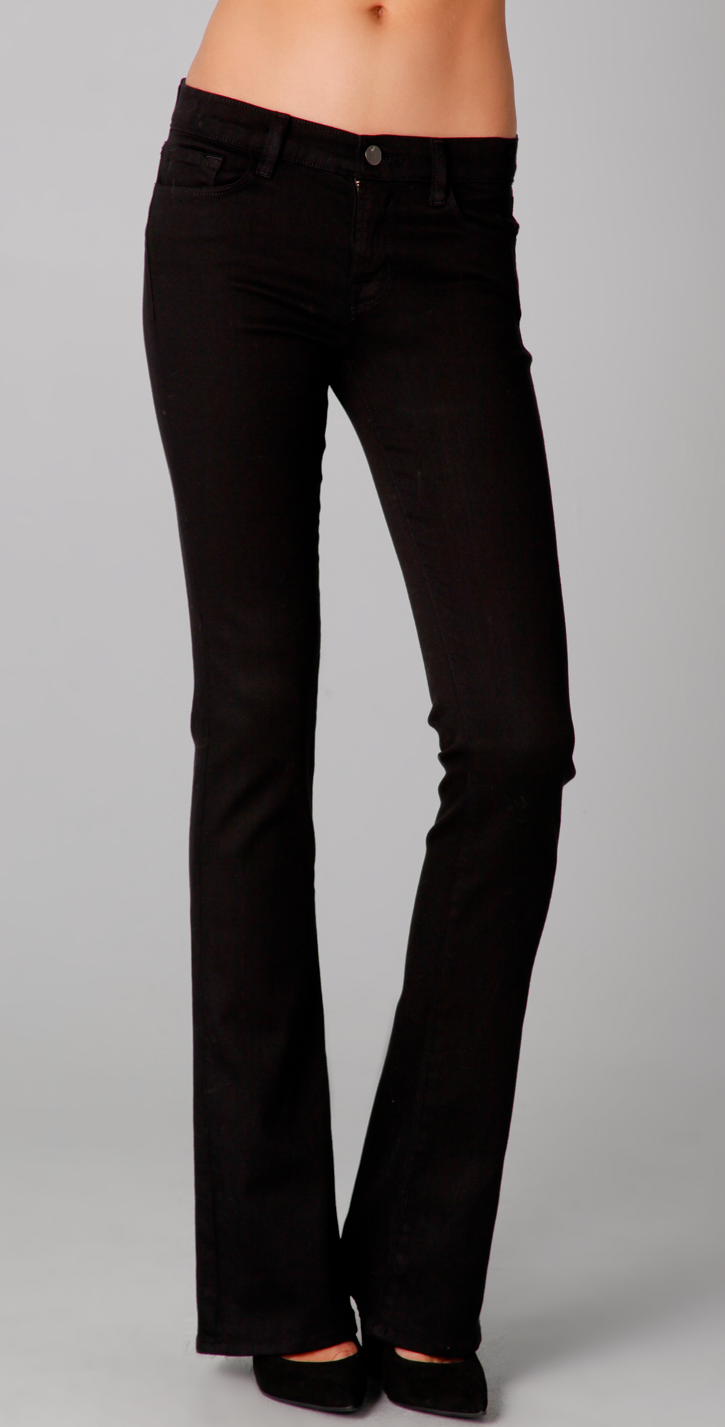 J brand Skinny Boot Cut Jeans in Black | Lyst