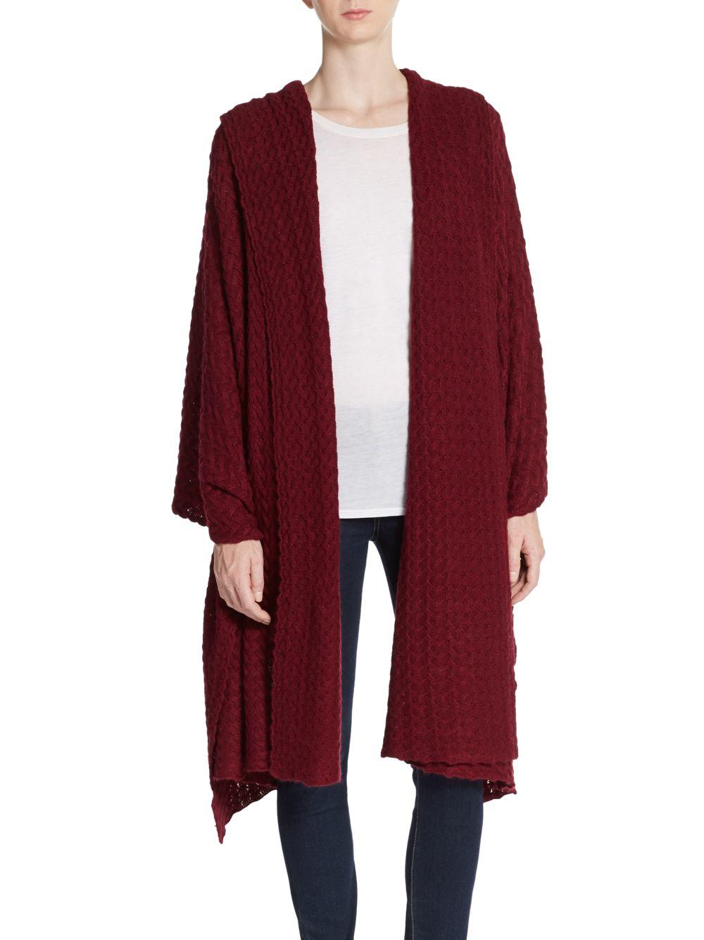 portolano minerva knit wrap scarf in purple lyst