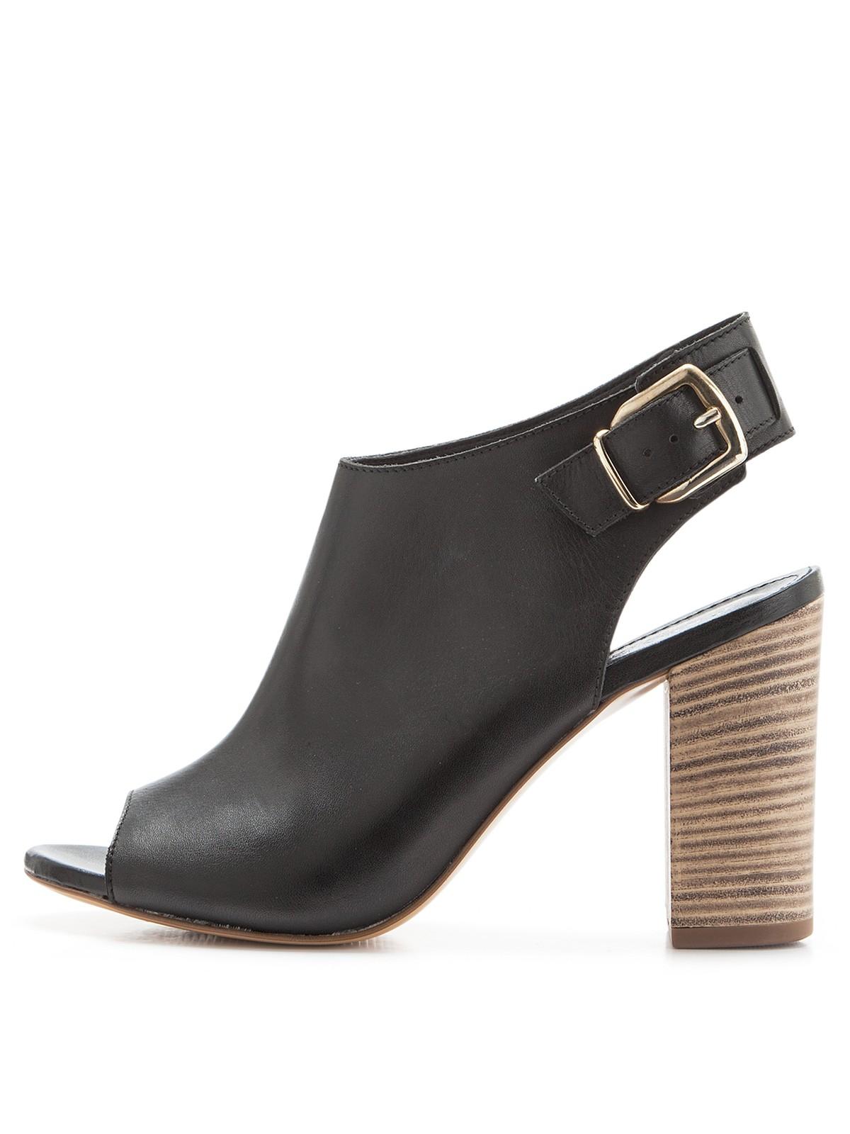 carvela kurt geiger asset leather shoe boots in black