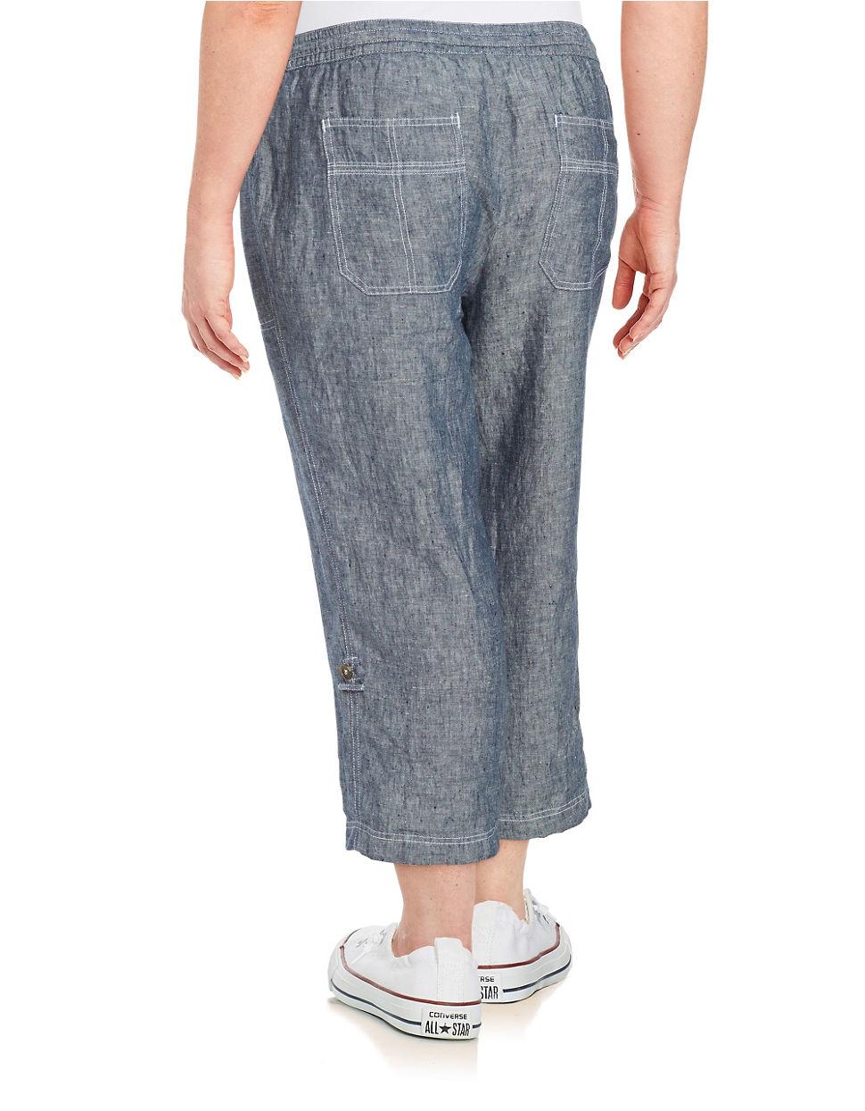 Linen Capris Pants | Gpant