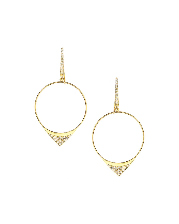 Lana Jewelry Large Electric Diamond Hoop Earrings Xzov5